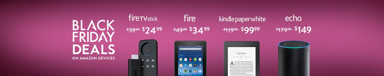 Black Friday Deals on Amazon Devices, Starting at $24.99