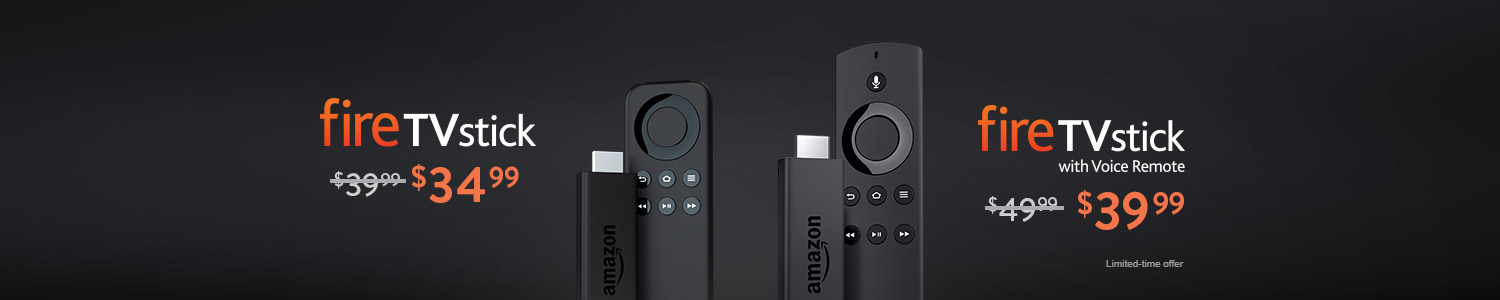 Fire TV Stick and All-New Fire TV Stick with Voice Remote