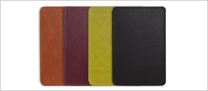 Amazon's official Kindle Touch leather cover