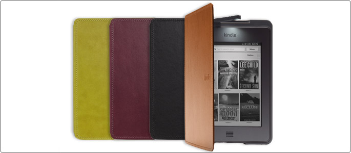 Amazon's  official  Kindle  Touch  leather  lighted  cover