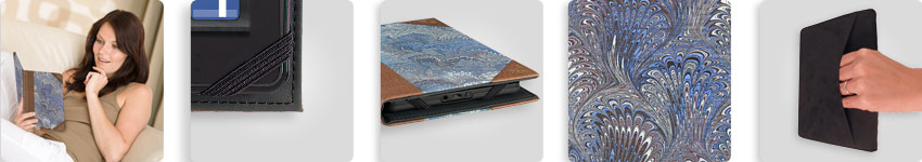 Verso Prologue Marbled Blue Cover for Kindle Fire and Kindle Keyboard