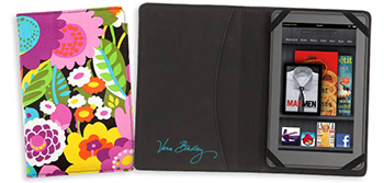 Black Va Va Bloom Kindle Fire Cover by Vera Bradley
