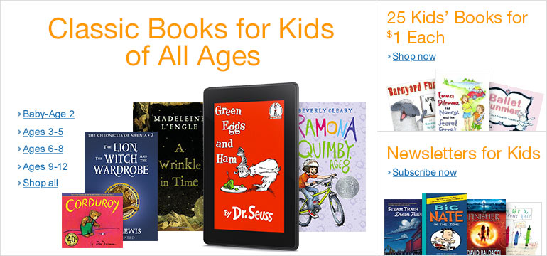 Classic Kids' Books on Kindle