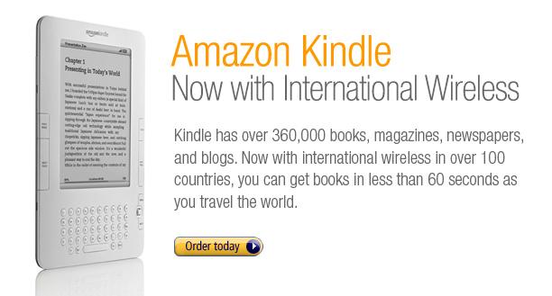 Amazon Kindle Now With International Wireless