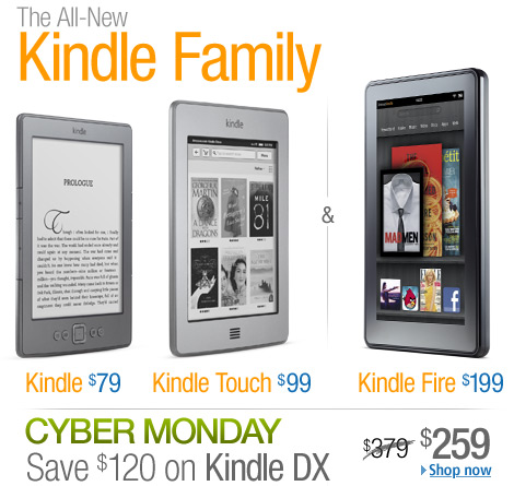 The all-new Kindle Family, from $79