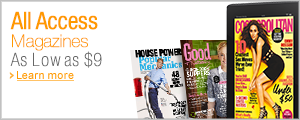 As Low as $9: All Access Magazines