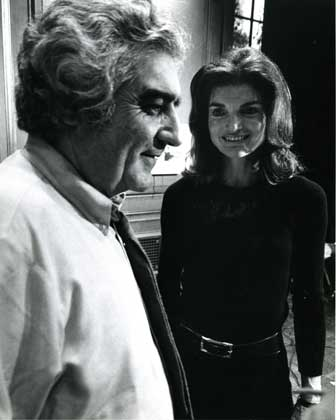 Jackie and ICP director Cornell Capa
