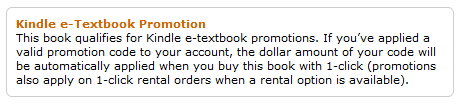 Save $10 on Kindle e-Textbooks