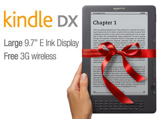 $259 Kindle DX 9.7′ – Free Global 3G