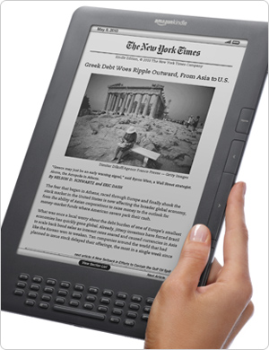 "Kindle DX 3G, 9.7"" E Ink Display"