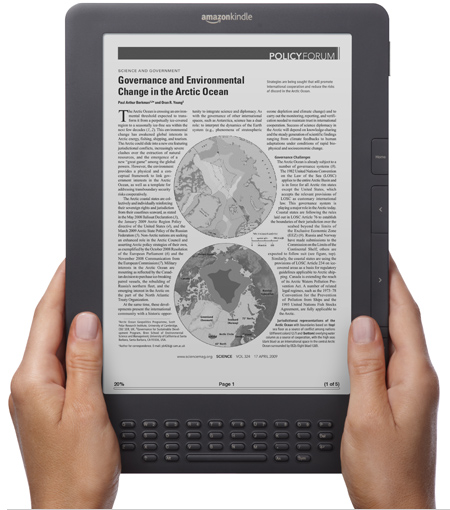 The Perfect Deal For Mom–add a $25 Amazon.com Gift Card when you purchase a Kindle DX (Free 3G, 9.7″).