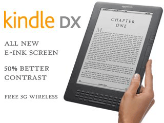 Save $80 for Kindle DX Wireless Reading Device, Free 3G, 9.7 Display (Today Only)