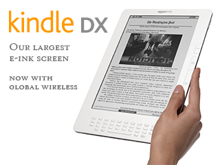 "Kindle DX Wireless Reading Device, Free 3G, 9.7"" Display, White, 3G Works Globally - 2nd Generation"