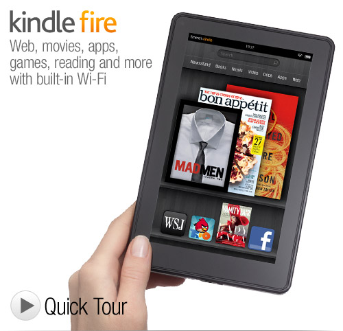 Kindle Fire - The Amazon Tablet with Full Color & Multi-Touch Display - Only $199 + Free Shipping