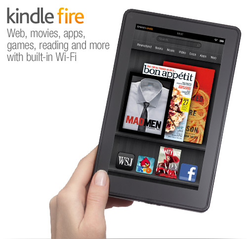 Kindle Fire, a Kindle for web, movies, apps, games, reading and more
