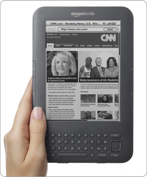 Kindle features an experimental web browser