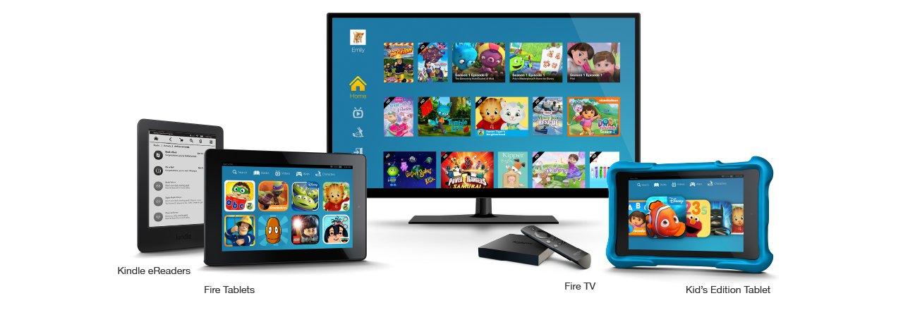 Kindle eReaders, Fire Tablets, Fire TV, Kids Edition Tablet