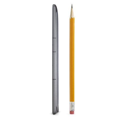 Kindle e-reader: device width compared to pencil