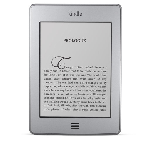 Kindle Touch e-reader: frontal view