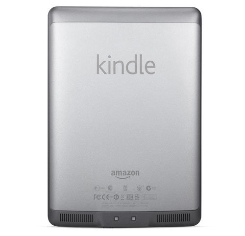 Kindle Touch e-reader: back of device