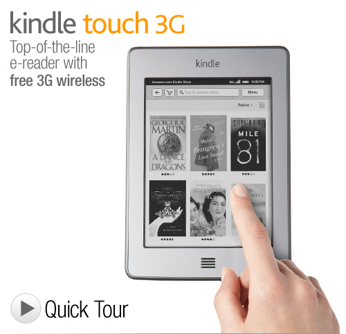 (NEW) Kindle Touch 3G $149