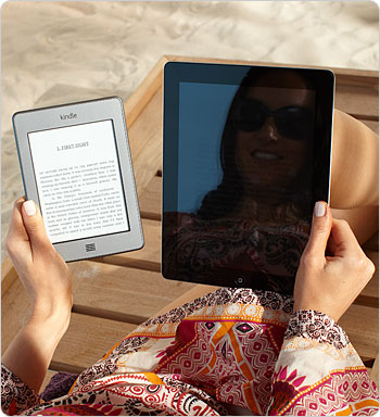 Unlike LCD displays, Kindle Touch has no glare.