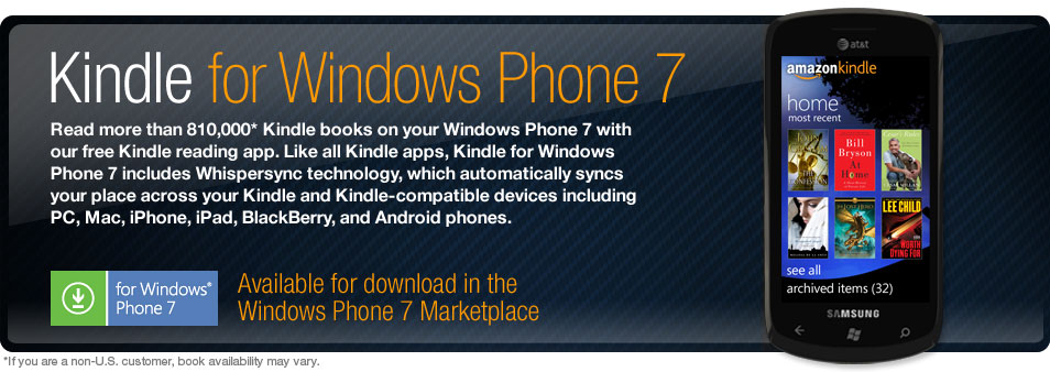 Kindle for Windows Phone 7