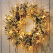 Find pre-lit wreaths from Bethlehem Lighting