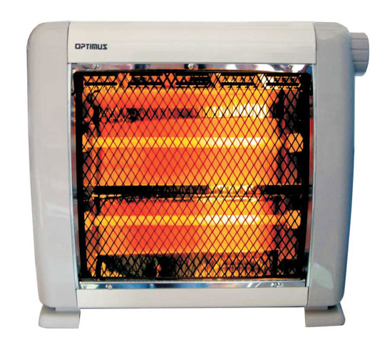 New Small Quiet Compact Infrared Quartz Space Heater Quick Ship