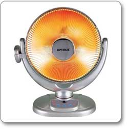 Optimus H-4438 14-Inch Oscillating Radiant Dish Heater with Remote Control