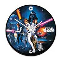 Star Wars Wood Clock