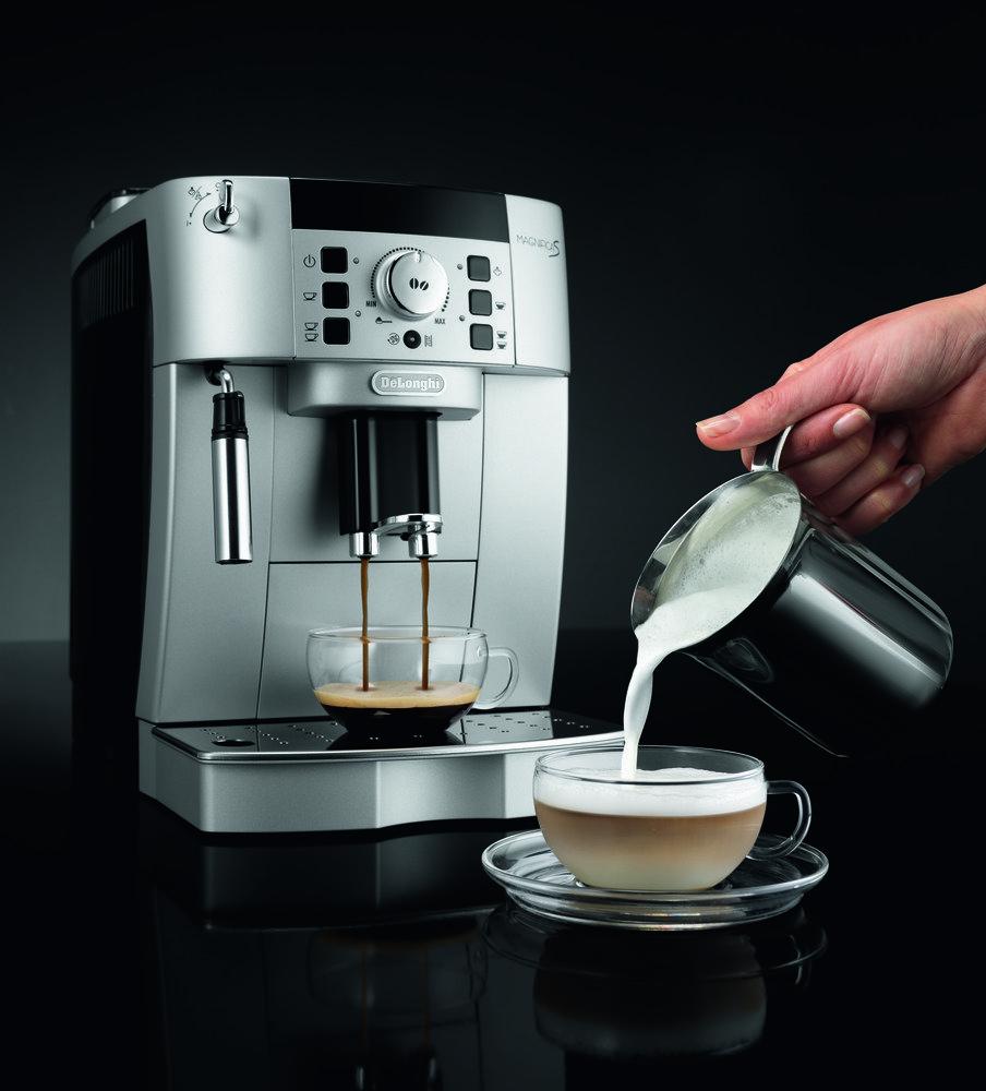Coffee Maker Automatic Timer : Amazon.com: DeLonghi ECAM22110SB Compact Automatic Cappuccino, Latte and Espresso Machine ...