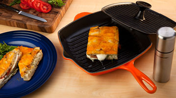 Flame Skillet Grill with Panini Press