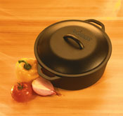 LogdeLogicDOmain Lodge L10DOL3 Pre Seasoned Dutch Oven with Dual Handles, 7 Quart