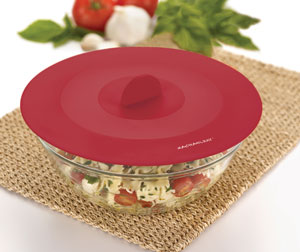 Rachael Ray Tools and Gadgets Top-This Suction Lid, Small/Medium/Large, Red, 3-Piece Set