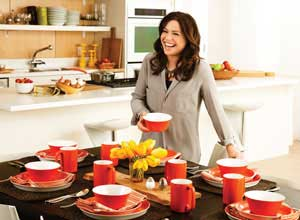 rachael ray round square 16 piece purple dinnerware set rh mykitchenaccessories com  rachael ray orange kitchen accessories
