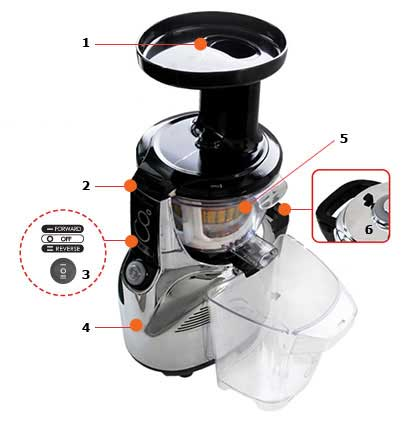Kuvings NS 950 Silent Upright Masticating Juicer%