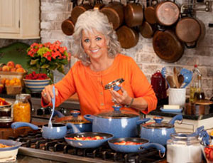 Paula Deen Signature Porcelain Nonstick 15-Piece Cookware Set, Coral Speckle