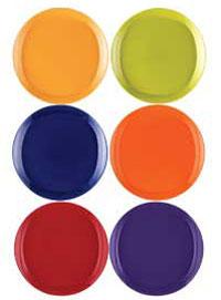 Rachael Ray Dinnerware Round and Square 16-Piece Dinnerware Set, Purple
