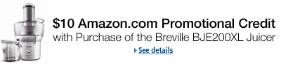 10% Amazon.com Promotional Credit with Purchase of Select Breville Juicers and Blenders