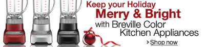 Keep Your Holiday Merry and Bright with Breville Color Kitchen Appliances
