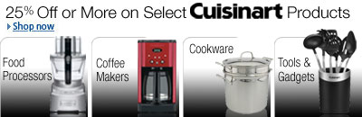 25% or more off Select Cuisinart Products