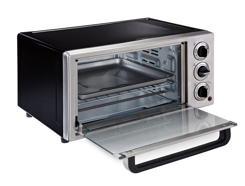 Includes a removable baking pan as well as 1 removable wire rack/broil ...
