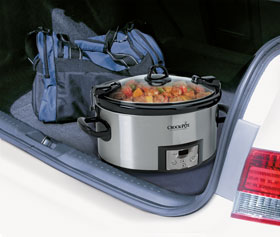 The SCCPVL610 travels well in the car without making a mess