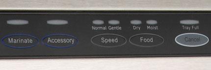 FoodSaver V3835 settings panel