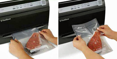 Fully automatic system starts the vacuum sealing process in two easy steps