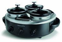 Crock-Pot Triple Dipper Food Warmer