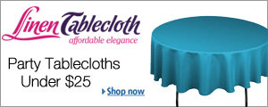 Party Tablecloths Under $25 by Linen Tablecloth