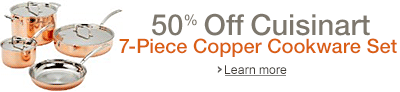 50% off Cuisinart Copper Cookware Set