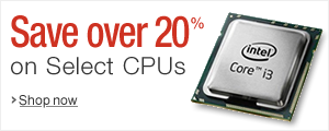 20% or More Off Select CPUs